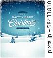 Vintage Christmas Landscape Background 58433810
