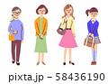 いろいろな世代の女性 58436190