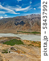 Aerial view of Spiti valley and Key gompa in Himalayas 58437992