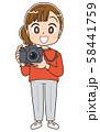 カメラ 女子 カメラマン 58441759