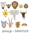 アフリカ サバンナの動物達2 58445529