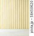 背景素材 ストライプの壁紙と白木 58450620