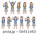 女性6 表情セットA 58451463