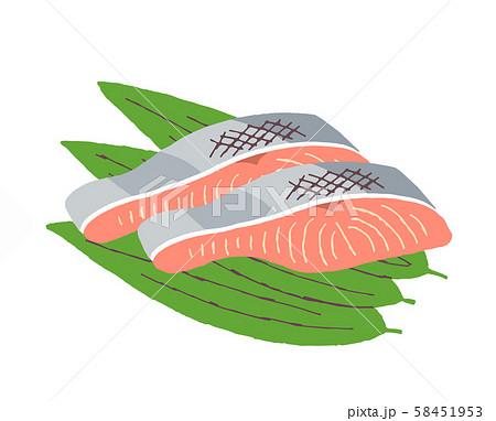 鮭の切り身 58451953
