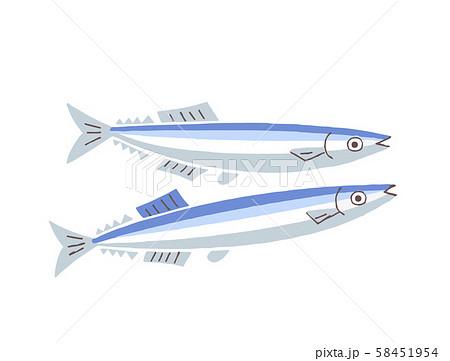 秋刀魚2匹 58451954