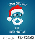 Merry Christmas greeting card template. 58452362