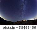 北アルプス・燕岳と北の星空 58469466