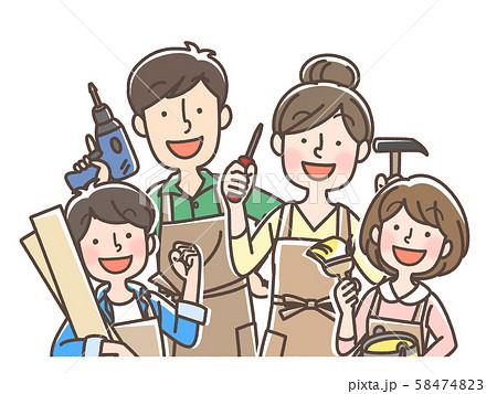 DIY家族 日曜大工 ホームセンターなどに 58474823
