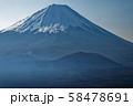 御坂山地・三方分山付近から見る富士山と大室山 58478691