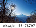 御坂山地・三方分山付近から見る富士山 58478797