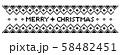 ノルディック柄 クリスマスライン モノクロ 58482451
