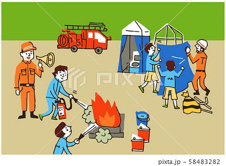 消防隊 避難訓練 58483282