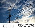 電柱と空 58487879