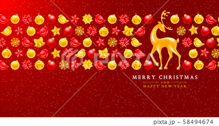 Festive Christmas And New Year Greeting Card 58494674