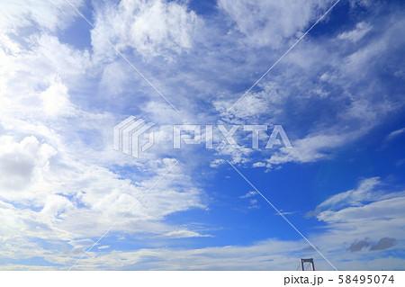 お台場の秋空の画像(写真) 58495074