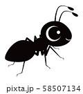 蟻 キャラクター ベクター イラスト 58507134