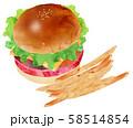 ハンバーガー3 58514854