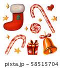 Set of christmas symbols. 58515704