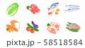 食材 肉魚野菜パン 58518584
