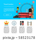 English London Brochure. Vector cartoon London sights template illustration 58523178