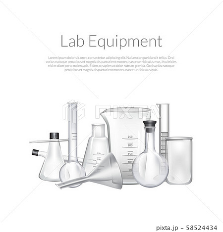 Vector background with place for text and chemical laboratory glass tubes 58524434