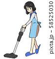 掃除をする主婦 58525030