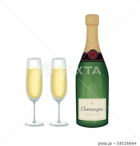 シャンパン 58526664