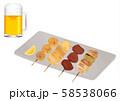 ビールと焼き鳥 58538066