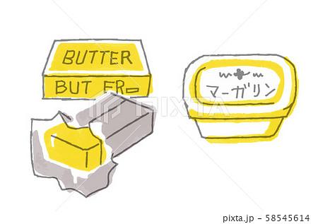バターとマーガリン 58545614