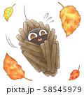 落ち葉とミノムシ 58545979