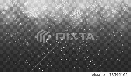 Snowflake fall decoration background 58546162