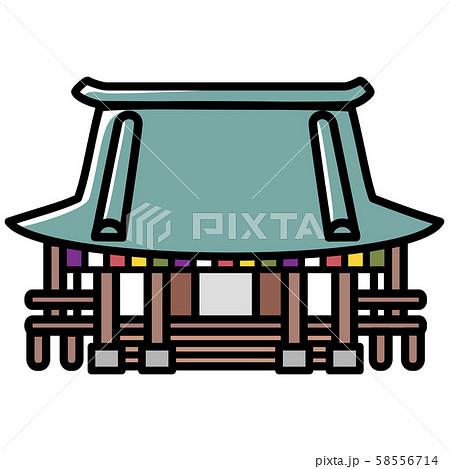 お寺 カットイラスト 58556714