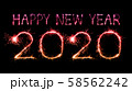 2020 happy new year fireworks written sparklers at 58562242