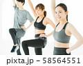 エアロビクス フィットネス エアロビ スポーツジム ダンス 女性 エクササイズ 58564551