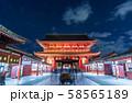 浅草寺夜景 本堂 58565189