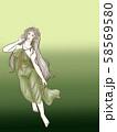 アンティーク女性イラスト 3 58569580