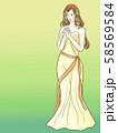 アンティーク女性イラスト 1 58569584