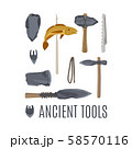 Ancient tools set for game design 58570116