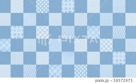 背景-和-和風-和柄-和紙-パターン-市松模様 58572973