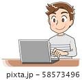 男性 パソコン 58573496