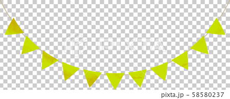 Flag_Triangle_Garland_Watercolor_Yellow Green_Yellow Green_Flag Garland 58580237