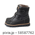 Pair of child winter leather shoes 58587762