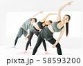 エアロビクス フィットネス エアロビ スポーツジム ダンス 女性 エクササイズ 58593200