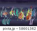 虫の音楽隊 背景つき 58601362