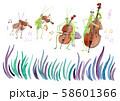 虫の音楽隊 水彩 58601366