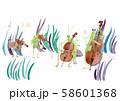 虫の音楽隊 白バック 58601368