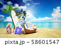 Concept travel to tropical countries Different 58601547