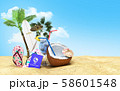 Concept travel to tropical countries Different 58601548