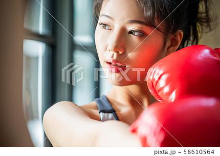女性 格闘技 ボクシング 58610564