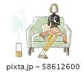 読書をする女性-加湿器 58612600